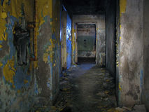 Abandoned corridor. Corridor in the abandoned house Royalty Free Stock Image