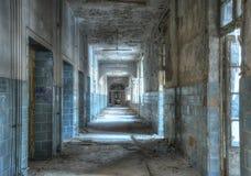Abandoned Corridor in Beelitz Stock Photography
