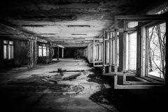 Abandoned Corridor in Chernobyl Royalty Free Stock Photo