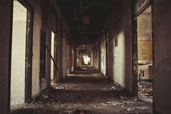 Abandoned Corridor. In surgical building Royalty Free Stock Photo