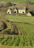 Abandoned Cotswold Farm. Abandoned Cotswold Stone Farm Buildings Stock Photos