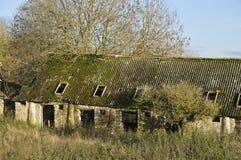 Abandoned Cotswold Farm. Abandoned Cotswold Stone Farm Buildings Stock Photo