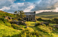 Abandoned Cottage on Bodmin Moor. Ancient abandoned farm house on Bodmin Moor in Cornwall Royalty Free Stock Images