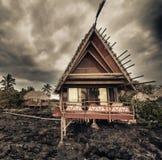 Abandoned cottage on lava foundation Royalty Free Stock Image