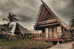 Abandoned cottage on lava foundation Stock Photo