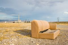 Abandoned couch Royalty Free Stock Images