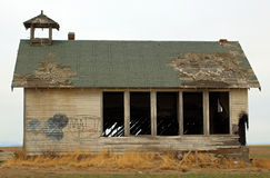 Abandoned Country Schoolhouse Stock Images