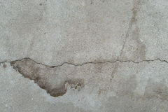 Abandoned cracked old cement wall. Gray dirty concrete damaged surface. Agedgreytexturewithsplodge. Royalty Free Stock Photography