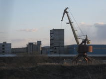 Abandoned crane Royalty Free Stock Photo