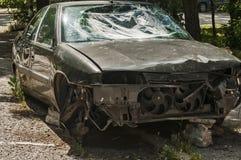 Abandoned crashed car Stock Image