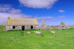 Abandoned Croft on North Uist, Hebrides Scotland Stock Image