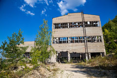 Abandoned crushing and screening Plant for Crushed Stone Production Royalty Free Stock Photo