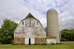 Abandoned dairy barn Royalty Free Stock Photo