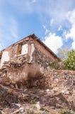 Abandoned damaged building Royalty Free Stock Images