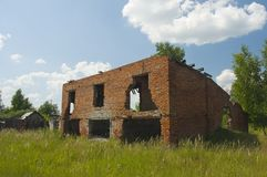 Abandoned damaged house Royalty Free Stock Images
