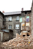 Abandoned, decayed and partly demolished building in Bialogard, Stock Photos
