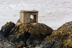 Abandoned defence post on British coast Royalty Free Stock Photos