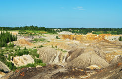 Abandoned deposits of refractory clays Stock Images