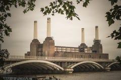 Abandoned derelict Battersea Power Station. London, UK - vintage look Royalty Free Stock Images