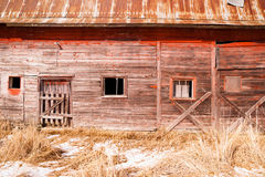 Abandoned Derelict Farm Barn Cold Winter North Country Stock Images
