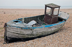 Abandoned derelict fishing boat Royalty Free Stock Image
