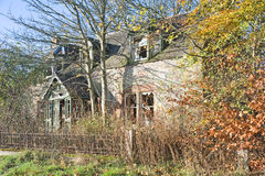 Abandoned derelict house. Royalty Free Stock Photos