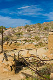 Abandoned desert homesite  Royalty Free Stock Photo
