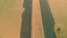 Abandoned desert road stock footage