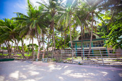 Abandoned and deserted hotel in the jungle on Royalty Free Stock Image