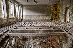 Abandoned devastated room royalty free stock photography