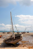 Abandoned dhow traditional sailing vessel Royalty Free Stock Images