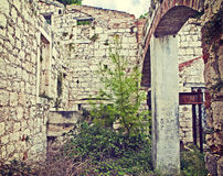 Abandoned and dilapidated building Stock Images