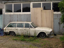 Abandoned dilapidated car Royalty Free Stock Image