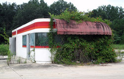 Abandoned Diner. An abandoned diner photo taken off Interstate I-59 in the USA royalty free stock images