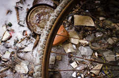 Abandoned dirt. Wheel and sand in Sweden Stock Images