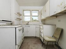 Abandoned dirty kitchen. Royalty Free Stock Photos