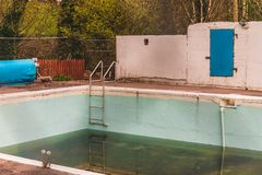 An abandoned and dirty pool Stock Photography