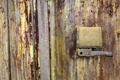 Abandoned distillate factory. Texture of old rust wall Royalty Free Stock Image
