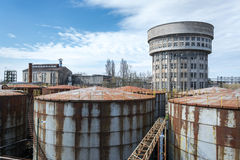 Abandoned distillery in Italy. Buildings of an abandoned distillery in Italy stock images