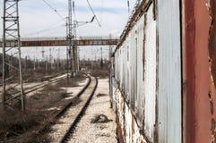 Abandoned distraherade railcaren Arkivfoton