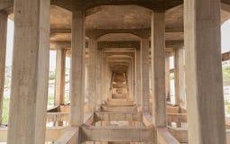 Abandoned and disused bridges near Hampi, India.  stock images