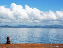 An abandoned dock. In Hainan island, China Stock Photography