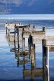 Abandoned docking. Lake of Albano (Italy Stock Photos