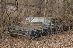 Abandoned Dodge found on Farm stock photo