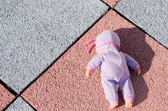 Abandoned doll Royalty Free Stock Images