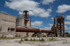 Abandoned dolomite mine Stock Image