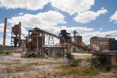 Abandoned dolomite mine Royalty Free Stock Photo