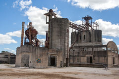 Abandoned dolomite mine landscape Royalty Free Stock Images