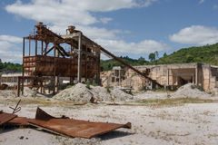 Abandoned dolomite mine landscape Royalty Free Stock Photo