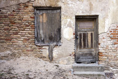 Abandoned doors and window Royalty Free Stock Photos